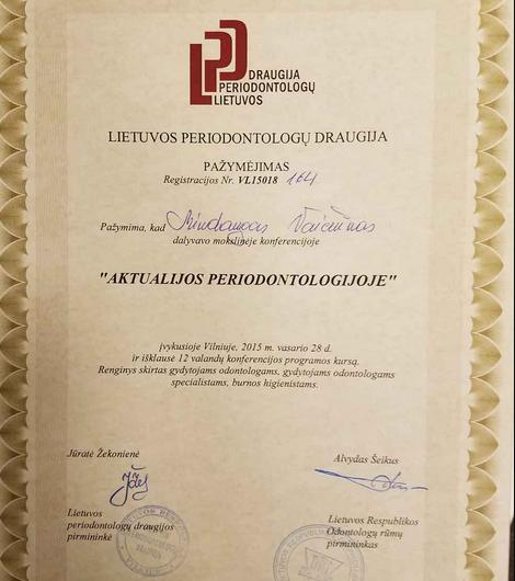 lietuvos peeriodontologu draudija - moksline konferencija