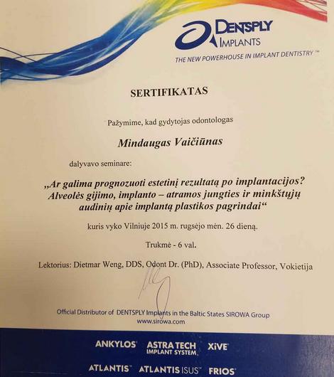 periodonto sertifikatas seminaras