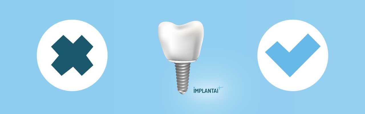 Kam netika dantų implantavimas